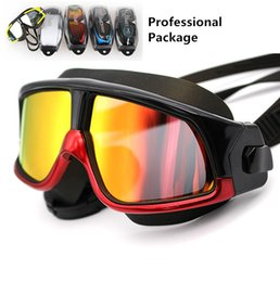 Wholesale Swimming Slip - Free Shipping COPOZZ Professional Non-slip Swimming Racing Goggles Anti-Fog UV Adjustable Plating Unisex Waterproof silicone glasses Eyewear
