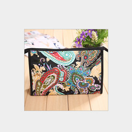 Wholesale Cheap Korean Fashion Free Shipping - MB-29 Cheap Chinese style satin zipper makeup pouch cosmetic promotion bag for free shipping DHL