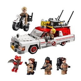 Wholesale Model Motorbikes - Lepin 16032 Ghostbusters Ecto-1 & 2 Car motorbike Block Set Model Toy Kids Gifts Compatible with 75828 without box