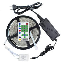 Wholesale Led Strip Lights Dream - 270leds 54LED M 5M 5050 RGB Waterproof Dream Color Color Changing Kit Horse Race LED Strip light + 25 key Remote Controller