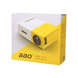 Wholesale Dvd Home Cinema - Wholesale-YG300 Mini LED Projector Cinema Theater DVDs HDMI USB AV Home Media Player