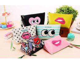 Wholesale Cosmetics Material - Hot!! Makeup Bag Modern girl PU material Women's Fashion Lady's Handbags Cosmetic Bags Cute Casual Travel Bags Fullprint Makeup Bags & Cases