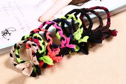Wholesale Hair Weave Holder - Factory direct weaving section of small braided cloth base Ribbon rubber band hair hair rope hair accessories wholesale