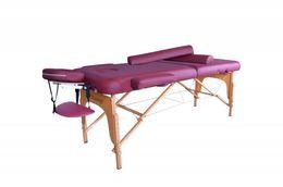 Wholesale Latex Bedding - Burgundy Professional Series Portable Massage Table Half Bolster