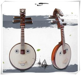 Wholesale Musical Water - Chinese guitar Nguyen Nguyen mahogany hardwood bone flower color ethnic musical instrument Ruan water first flower gift package..
