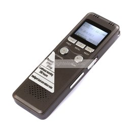 Wholesale 4gb Digital Voice Telephone Recorder - Wholesale-2014 Newest Steel 8GB Digital Voice Recorder 350Hr standby Dictaphone with MP3 Player Good for Recording telephone conversations