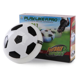 Wholesale Wholesale Light Up Items - Flying Hover Ball LED Kids Air Power Soccer Football Children Toys LED Light Up Indoor Outdoor Disk Ball With Retail package