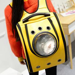 Wholesale Portable Space - Space Cabin Pet Carrier Fation Dog Bag Breathable Dog Backpack Cat Carrier Outside Portable Cat Transport Bag Dog Cat Bag
