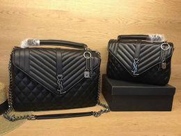 Wholesale Christmas Chain Letters - New Fashion Bags women's Shoulder bag Leather handbags Brand Female bag Woman chain Bag Best quality