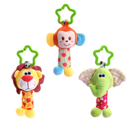 Wholesale Cute Small Newborn Babies - Baby Handbell Newborn Boys Girls Infant Soft Cute Animal Doll Handbells Developmental Baby Bells Toys Baby Gift Hot Sale New Infant Toys Mob