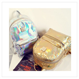 Wholesale Handbags Backpacks For School - High Quality PVC Handbags NewGirl Fashion Women Hologram Holographic Laser PVC School Backpack Bags For Leather Travel Casual Daypack