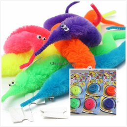 Wholesale Kids Animal Toys Move - Wholesale- 2015 New Stylish Hot Sale Magic Twisty Fuzzy Worm Wiggle Moving Sea Horse Kids Trick Toy Animals Street For kids gift