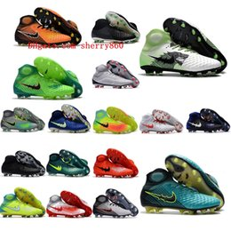 Wholesale Shine Pu - 2018 high ankle soccer cleats Magista Obra Fg II original soccer shoes Time to Shine soft ground football boots cheap magista cleats Black