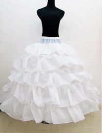 Wholesale fast crochet - Fast Shipping 2018 New Bridal Petticoat Cascading Ruffles Ball Gown Petticoat Three Crinoline Petticoat Under Bridal Wedding Dresses