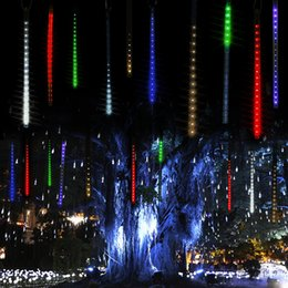 Wholesale Solar Lights Outdoor Wedding - Multi-color 30cm 50cm Meteor Shower Rain Tubes LED Christmas Lights Wedding Party Garden Light Xmas String Light Outdoor