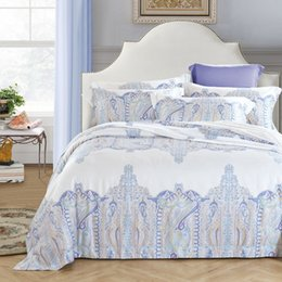 Wholesale Tencel Fabric Sheets - 60 yarn tencel fabric bed sheet bed linen four pieces bedding set 100% cotton fabric,flower designs blue color car childrenhood xinfudingzhi