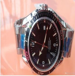 Wholesale Ocean Dresses - 2017 new brand watch men stainess steel 007 james bond planet ocean james bond automatic movement watches men dress wristwatches