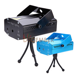 Wholesale Led Mini Voice Activated Light - Mini 150mW Red & Green LED Laser Stage Light LED Stage Projector Lights LED Auto Strobe Voice-activated Laser Lighting