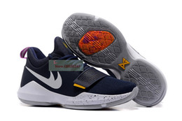 Wholesale Elastic Shoes - Mens Athletic Paul George PG 1 TS Prototype EP Ferocity Zoom Low Cut Basketball Shoes Adult Shining Sport Trainer Sneakers 40-46