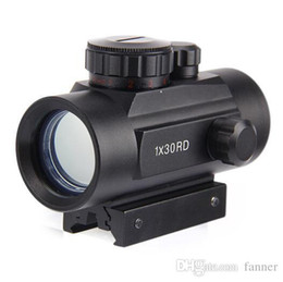 Wholesale Hunting Rifle Optics - Hunting Scope Holographic Optics Red Green Dot Tactical Scope 1X30 Riflescope Sight 20mm Rail Mount free shipping