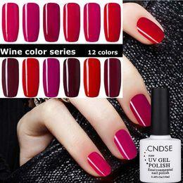 Wholesale Long Red Nails - Nail Polish 10ml Wine Red Series Nail Gel Polishes Bobbi Cutex Phototherapy Long-lasting UV Manicure Polish Wholesale Free Shipping 0060MU
