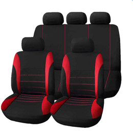 Wholesale Crossover Auto - Universal Car Seat Covers 9 Set Full Car Styling Car-Covers Seat Sover for Crossovers Sedans Auto Interior Accessories