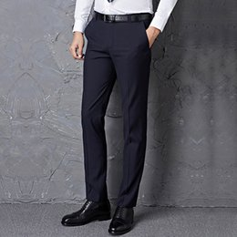 Wholesale China Brand Suits - Mens pants big size S=27-40 black male suit pants slim fit business trousers brand man spring 2014 china inported clothes