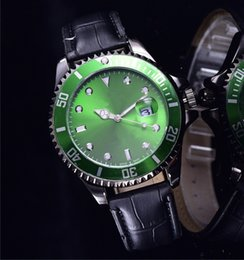 Wholesale Brown List - new Fashion famous brand metal Ceramic stainless steel green face luxury mens leather Strap women watches brands list week day clock tags