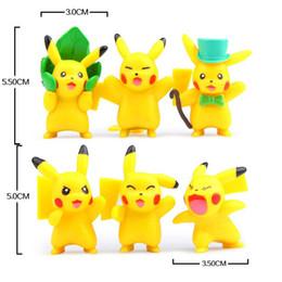 Wholesale Anime Pvc Sale Japan - Hot Sale! New Design 12pcs 2set Japan Animation Pikachu 5~5.5cm Cute Dolls Anime PVC Action Figure Children Gift