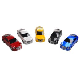 Wholesale Car Pc Radio - Wholesale- Bluetooth Mini Car Shape Speaker with Micro SD TF USB Portable Music Audio Player with FM Radio Stereo For MP3 Mp4 PC
