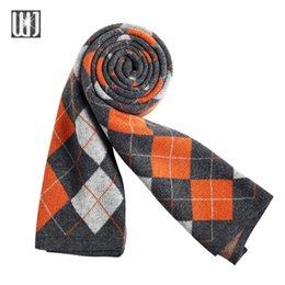 Wholesale Christmas Shawl Men - Wholesale-2016 New Brand Winter Scarf Men Scarves For Christmas Gift 4 Colors Plaid Blanket Scarf Fashion 190*30 Male Shawls And Scarves