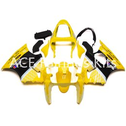 Wholesale Yellow Zx6r Fairing - 3gifts Fairing Kit for KAWASAKI Ninja ZX6R 636 00 02 ZX 6R 2000 2001 2002 zx6r Compression mold Fairings set Yellow black A45