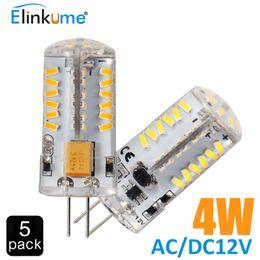 Wholesale 12v Ac Bulb Edison Led - Wholesale- 5Pcs lot G4 Led Bulb 57LED lamp corn Bulb AC DC12V 4W SMD 3014 LED light 360 degrees Beam Angle spotlight lamps bulb