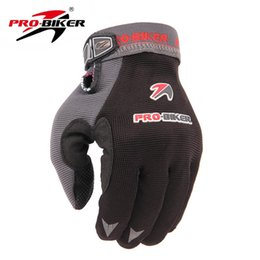 Wholesale Luvas Pro Biker - Wholesale- PRO-BIKER Motorcycle Riding Gloves Bike Bicycle Cycling Gloves Breathable Motocross Off-Road Racing Long Finger Guantes Luvas