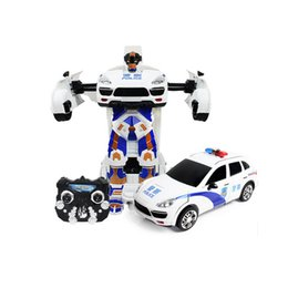 Wholesale Electronic Speed Controls - Transformer RC Radio Remote Control High Speed Deformation Robot Car Electronic Vehicle Kids Children Toys Gifts