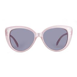 Wholesale Transparent Money Box - Brand new sunglasses for girls Cat's eye polarized sunglasses Transparent powder children's money UV400 with Glasses cloth bag box GS92-2