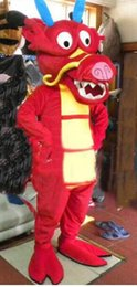 Wholesale Red Dragon Mascot Costume - High Quality Lovely Red China North Sea King Dragon Mascot Cartoon Costume Hallowmas Party Fancy Dress