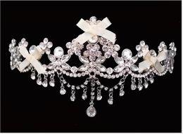 Wholesale Head Married - Bridal crown headdress Korean Princess crown hair ornaments made large head crown married European jewelry wedding jewelry