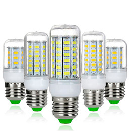 Wholesale g9 energy saving bulbs - LED Corn Bulb 5050 27 30 48 59 69 SMD LED Light Bulb E14 E27 G9 360 degree High Power Lamp 220V Pure Warm White Light Energy Saving LED Bulb