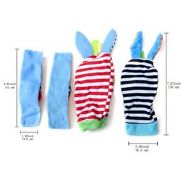 Wholesale Soft Rattle Socks - (1set=4pcs=2 pcs waist+2 pcs socks )Bright Baby Infant Kids Soft Wrist foot socks Rattle Hands Foots finder toy