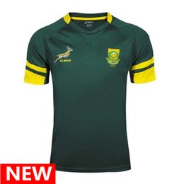 Wholesale Quick Dry Outdoor - Free shipping Rugby shirt Top quality 2016 2017 South Africa rugby jerseys 16 17 rugby shirts Springboks Outdoor sportswear