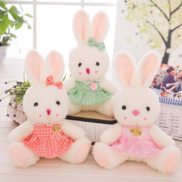 Wholesale Dolls Toys For Girls - 35CM 55CM Lovely Rabbit Plush Toy Soft Love Rabbit Toy Stuffed Animal Doll Gifts for Children and Girls