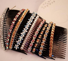 Wholesale Rhinestone Barrettes Free Shipping - Free shipping 10pcs lot Hair clip Barrettes Comb Hair Jewelry Accessories For Hair Jewelry Gift HJ601