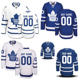 Wholesale Icing Logos - Customized Toronto Maple Leafs Jerseys Authentic personalized Cheap Hockey Jerseys Any Number & Name Embroidery Logos size S-3XL