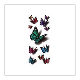 2019 großhandel körper creme flaschen Hohe Qualität Temporäre Tattoo Großhandel Wasserdicht Flash Metallic Tattoos Körperschmuck Tattoo Multicolor Schmetterling Body Art Kostenloser Versand