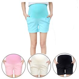 Wholesale Maternity Pants For Short Women - Maternity Cotton Short Pants Summer For Pregnant Women Plus Size Clothing Pregnancy Clothes Shorts Belly Skinny cotton 2114019