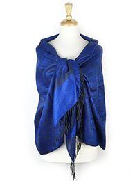 Wholesale Pink Paisley Pashmina - Becolored Women luxury cashmere blended scarf warp autumn winter scarf shawls pashmina scarf fashion drop shipping