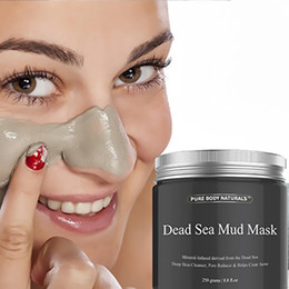 Wholesale natural pack mask - 2017 Dead Sea Mud Mask Anti Acne Deep skin Cleanser Pore Reducer Natural Mineral-Infused Detoxifier Packed With Vitanins to promote youthful