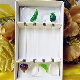 Wholesale Glass Sculptures - Wholesale- Factory wholesale! Creative art glass sculpture decorative glass spoon vegetables restaurant tableware spoon