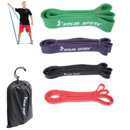 """Wholesale Power Fitness - Set of 4 Natural latex 41"""" Strength Resistance Bands Loop Fitness Crossfit Power Lifting Pull Up Strengthen Muscles"""